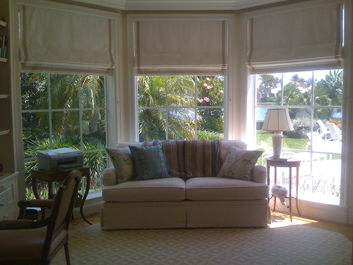 Operable Custom Roman Shades