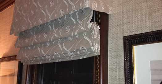 Operable Roman Shade with Valance