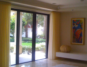 Custom Drapery for Sliding Glass Door